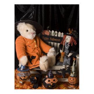 4825 Teddy Bear Witch Halloween Post Card