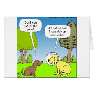 483 coja el cable básico en dibujo animado del tarjeta de felicitación