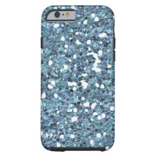 4865__desert-spring-glitter-blue LIGHT BLUE BLUES Tough iPhone 6 Case