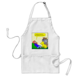 486 watching part of a movie cartoon adult apron