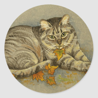 4872 Autumn Cat Stickers