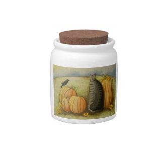 4874 Harvest Cat Cannister Candy Jars