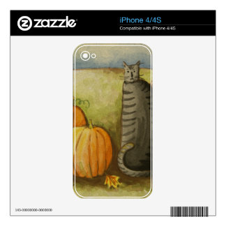 4874 Harvest Cat Halloween Decal For The iPhone 4S