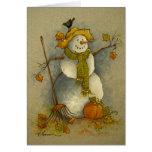 4878 Harvest Snowman Halloween Greeting Card