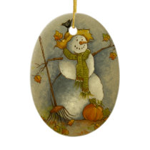 4878 Harvest Snowman Halloween Ornament