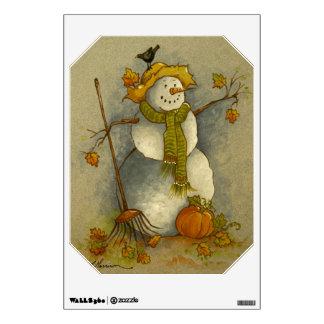 4878 Harvest Snowman Wall Decal