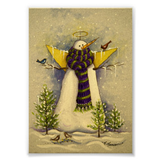 4881 Snow Angel & Birds Christmas Poster