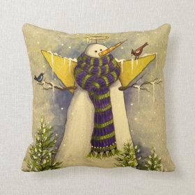 4881 Snow Angel & Birds Christmas Throw Pillows