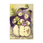 4882 navidad de los muñecos de nieve lona envuelta para galerias