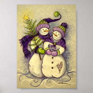 4882 Snowmen Christmas Poster