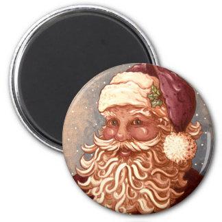 4884 navidad de Papá Noel Imán Redondo 5 Cm