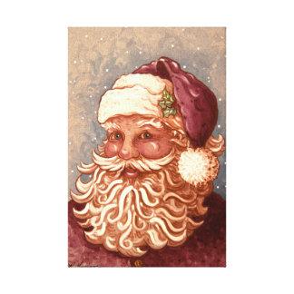 4884 navidad de Papá Noel Impresión En Lienzo
