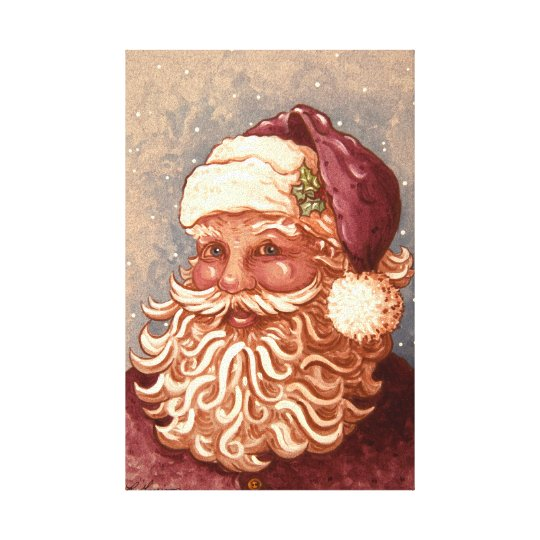 4884 Santa Claus Christmas Canvas Print