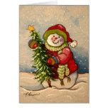 4889 navidad del muñeco de nieve felicitación