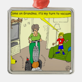 488 my turn to vacuum cartoon christmas ornaments