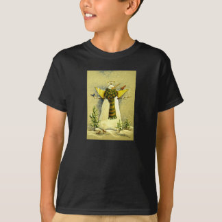 4894 Snow Angel & Birds Christmas T-Shirt