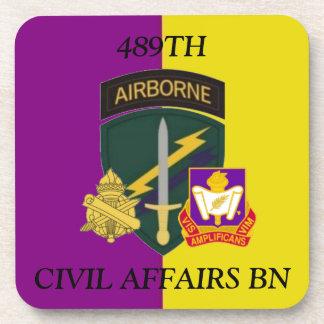 489TH CIVIL AFFAIRS BATTALION DRINK COASTERS