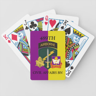 489TH CIVIL AFFAIRS BATTALION PLAYING CARDS