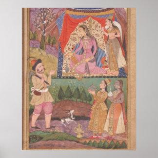 48.6/2 folio 138 Farhad recounts his adventures to Poster