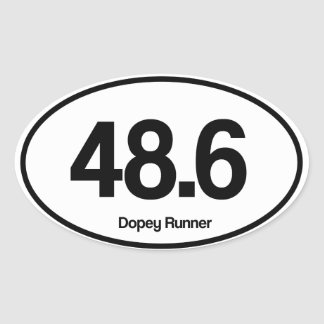 48.6 Dopey Runner Oval Sticker