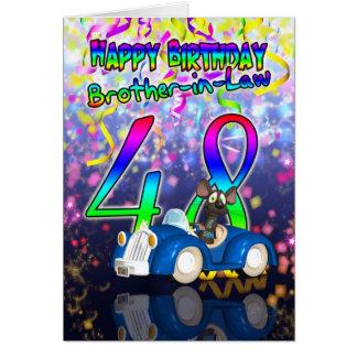 48.a tarjeta de cumpleaños del cuñado - diversión