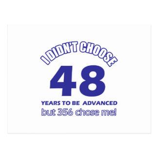 48 años de adelanto tarjeta postal