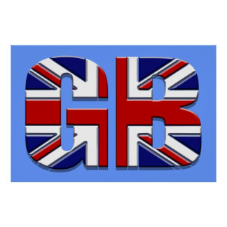 """48"""" by 32"""" Large GB British flag Union Jack Poster"""