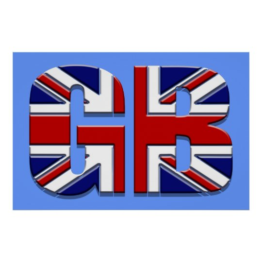 "48"" by 32"" Large GB British flag Union Jack Poster"