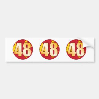 48 CHINA Gold Bumper Sticker