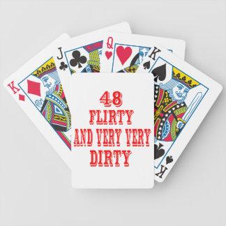 48, coqueto y muy muy sucio baraja