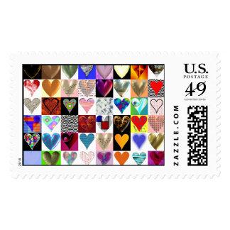 48 corazones en un sello