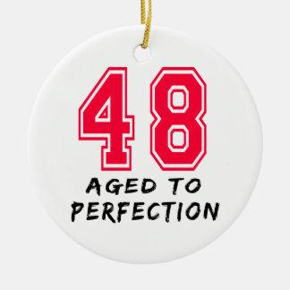 48 envejeció al diseño del cumpleaños de la perfec adorno para reyes
