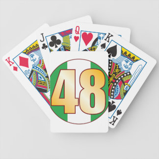 48 NIGERIA Gold Bicycle Playing Cards