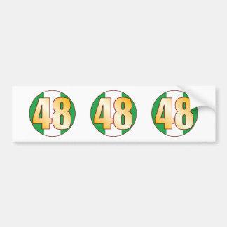 48 NIGERIA Gold Bumper Sticker