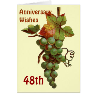 48 o Deseos del aniversario customiseable Tarjetas