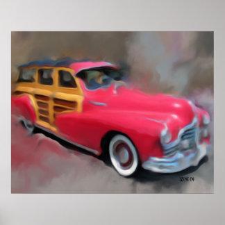 48' Pontiac Woodie Poster