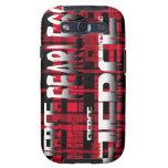 48.Red y feroz audaz de la tela escocesa negra Samsung Galaxy S3 Carcasas