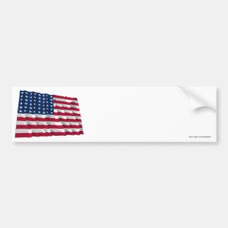48-star flag bumper sticker