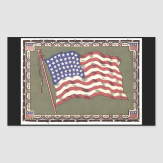 48-Star Flag Rectangular Sticker