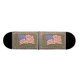 48-Star Flag Custom Skateboard