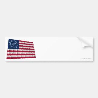 48-star Flag, Whipple Peace Flag Bumper Sticker