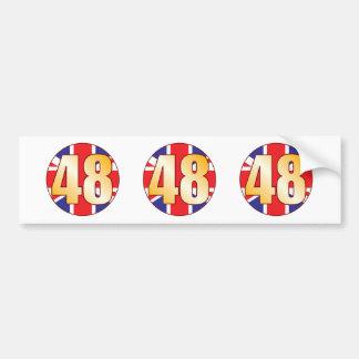 48 UK Gold Bumper Sticker
