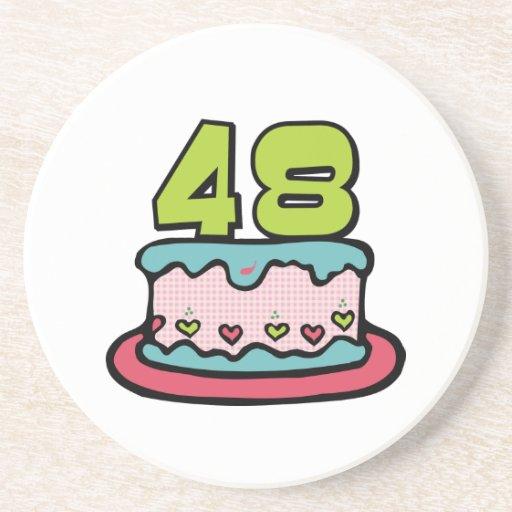 48 Year old Birthday Cake Coasters