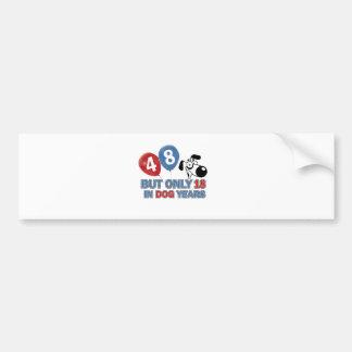 48 year old Dog years designs Bumper Sticker