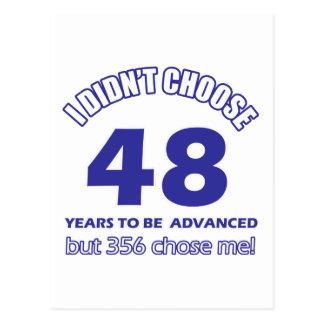 48 years advancement postcard