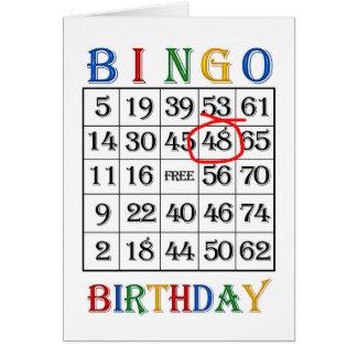 48th Birthday Bingo card