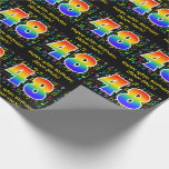 [ Thumbnail: 48th Birthday: Colorful Music Symbols, Rainbow 48 Wrapping Paper ]
