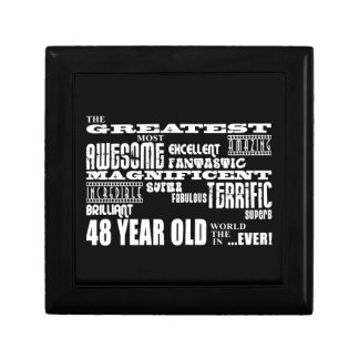 48th Birthday Party Greatest Forty Eight Year Old Keepsake Box