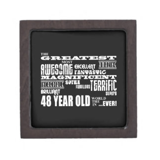 48th Birthday Party Greatest Forty Eight Year Old Premium Jewelry Box