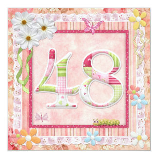 48th birthday party scrapbooking style card